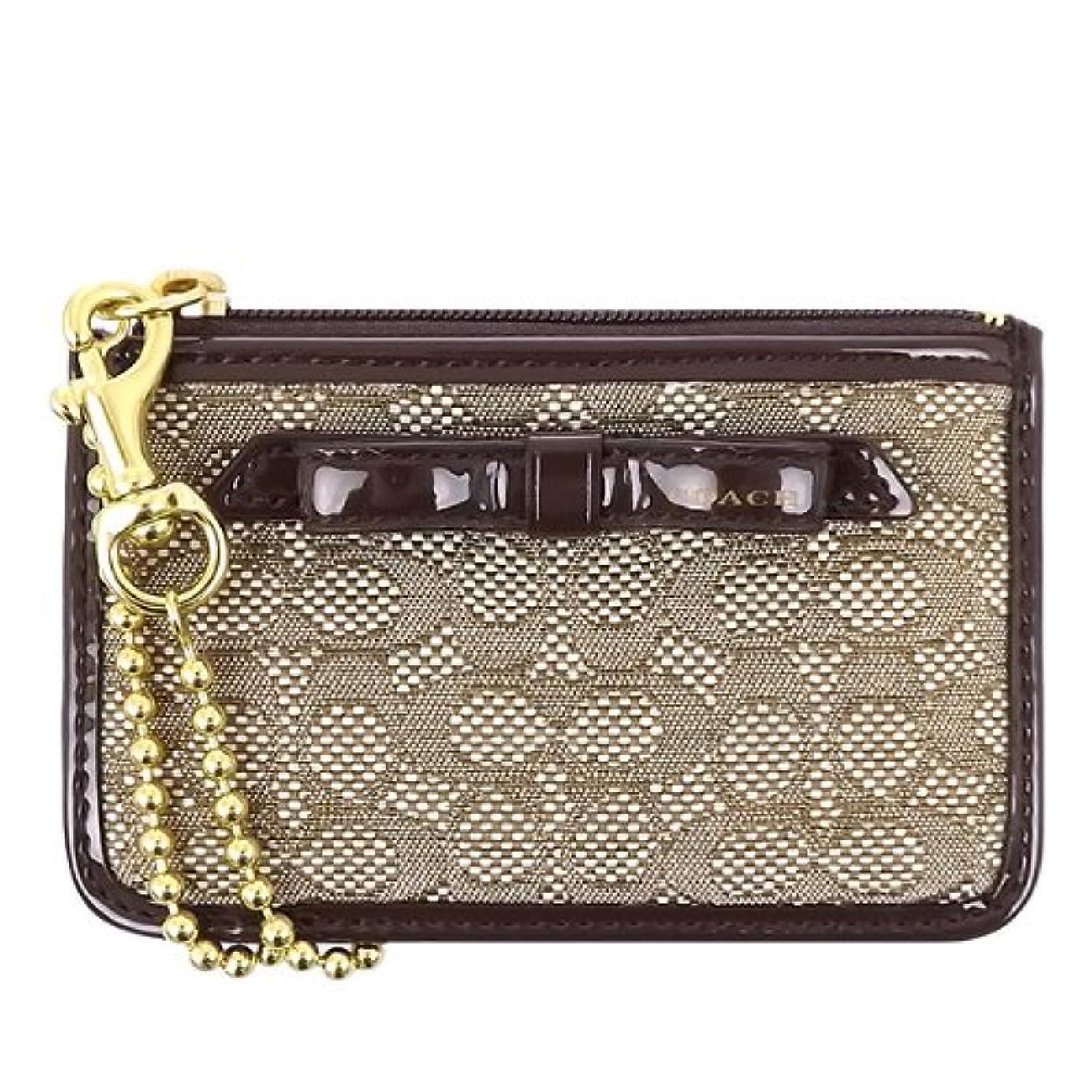 自動種をまく市区町村[コーチ] COACH 財布 (コインケース) F49821 カーキ×マホガニー BKHMA シグネチャー 財布 レディース [アウトレット品] [並行輸入品]