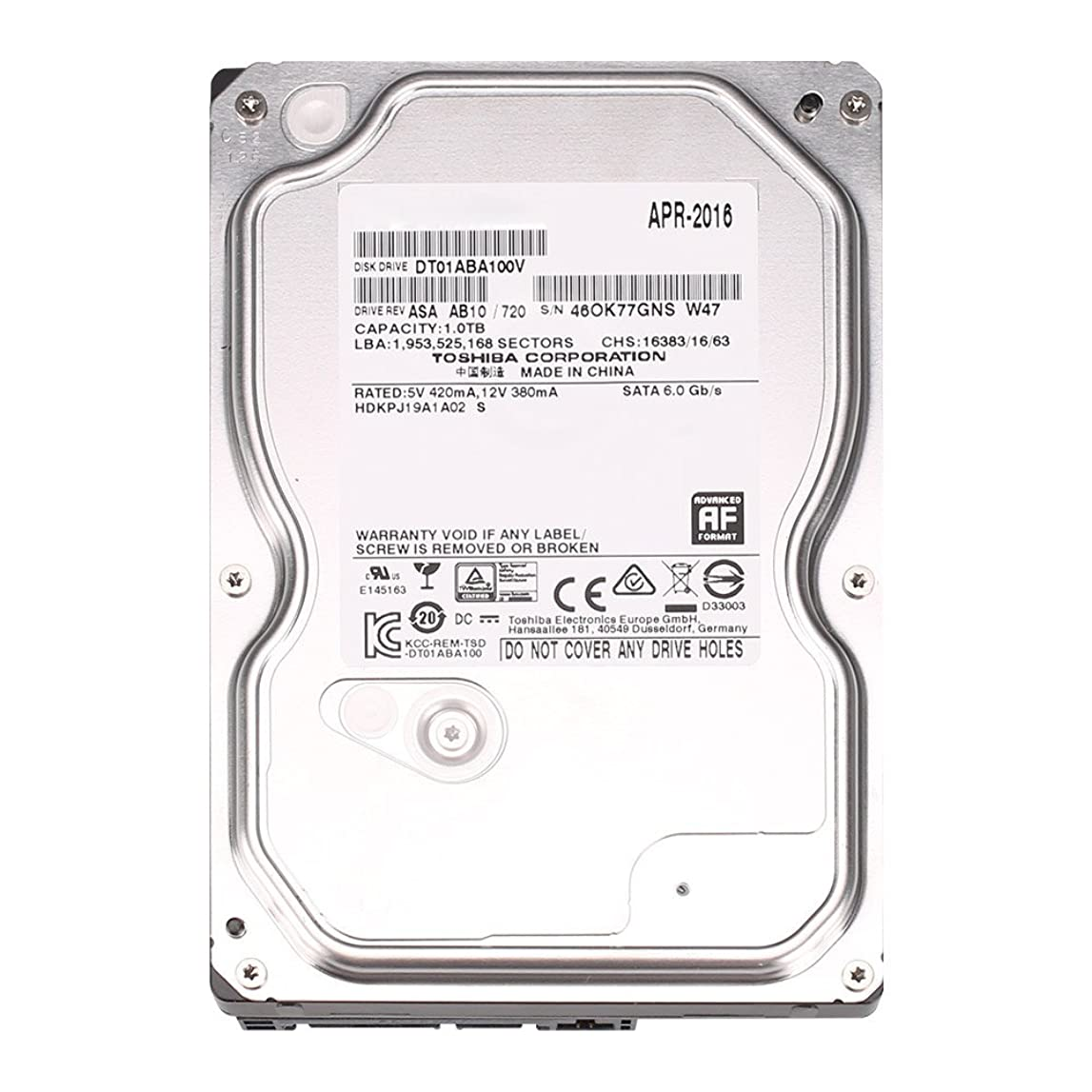 抽象給料解凍する、雪解け、霜解けZOSI防犯レコーダー用HDD  内蔵ハードディスク  3.5インチ SATA (1TB)