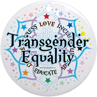 CafePress Transgender-Equality-Lotus Round Holiday Christmas Ornament