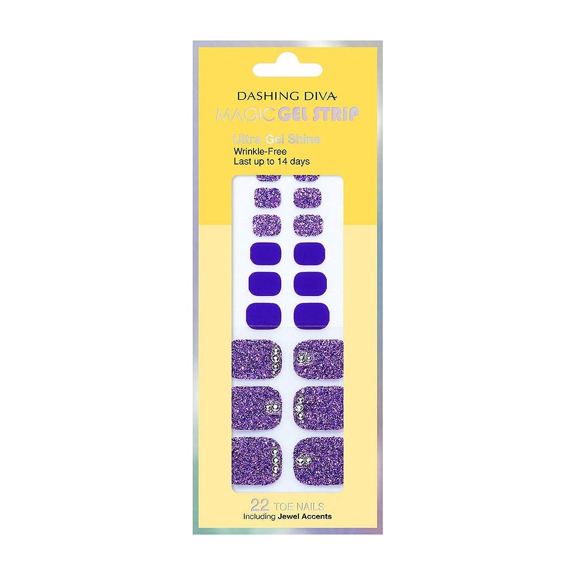食品音アフリカ人ダッシングディバ マジックジェルストリップ DASHING DIVA Magic Gel Strip DGST77P-DURY+ オリジナルジェル ネイルシール Bling-jewel Sparkle Purple