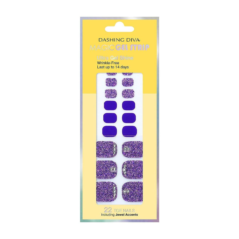 動く生産性それに応じてダッシングディバ マジックジェルストリップ DASHING DIVA Magic Gel Strip DGST77P-DURY+ オリジナルジェル ネイルシール Bling-jewel Sparkle Purple