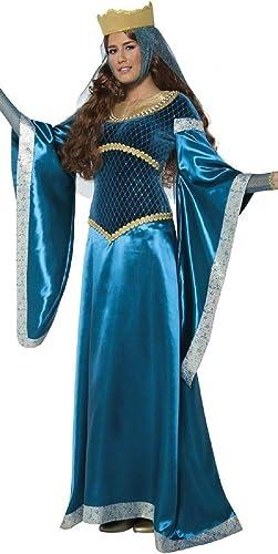 Femmes Bleu La Servante Marianne Médiévale Reine Femmes En Waiting Robin Des Bois Journée Mondiale Du Livre TV Film Gothique Renaissance Costume DéguiseHommest UK 12-14