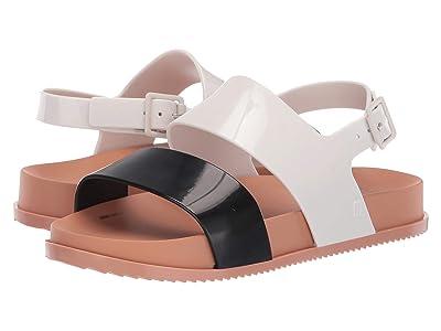 Mini Melissa Mel Cosmic Sandal (Little Kid) (Black/White) Girls Shoes