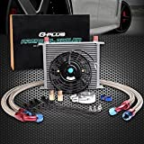 7' Electric Fan Kit + Universal 30 Row 10AN Engine Transmission Oil Cooler Kit