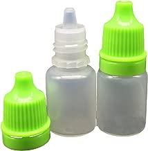 Ewandastore 50pcs Empty Eye Dropper Bottles 5ml Plastic Squeezable Dropper Bottles Eye Liquid Dropper Dropping Bottles(Green Cap)