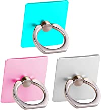 3 Pack Cell Phone Ring Holder Stand,Finger Grip Loop Mount 360 Degree Rotation Universal Smartphone Kickstand Compatible with iPhone X XR MAX 8 7 7Plus Galaxy S9 S9 Plus S7 S8 LG (Teal+Pink+Silver)