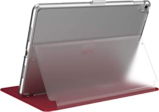 Speck BalanceFolio Clear Case and Stand, for 9.7-inch iPad (2017/2018) iPad Air 2/iPad Air, Heartrate Red/Clear