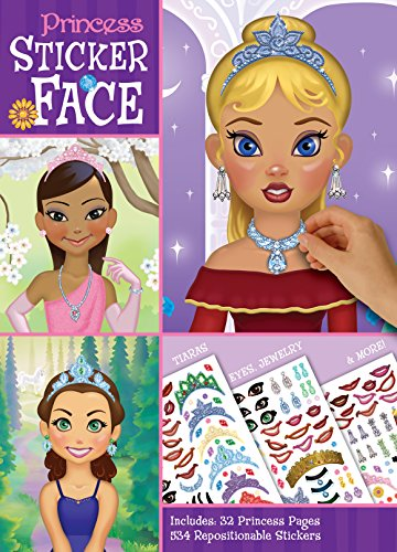 Bendon Princess Create-A-Face Sticker Pad 13492