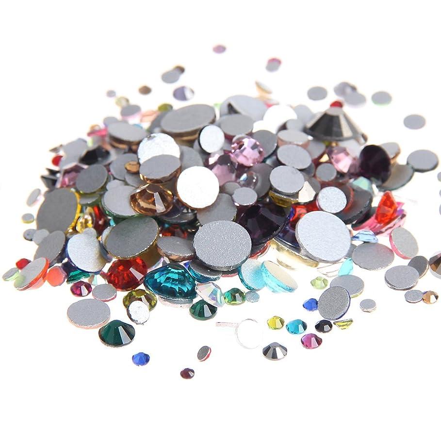 パーク項目オンNizi ジュエリー ブランド 混合色 ラインストーン は ガラスの材質 ネイル使用 型番ss3-ss30 (混合サイズ 1000PCS)