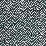 Textiles français Tela de algodón Estampada - Cebra - Blanco y Negro - 100% algodón Suave | Ancho: 160 cm (por Metro Lineal)*