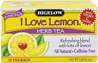 Bigelow Tea - Herb Tea with Vitamin C All Natural Caffeine Free I Love Lemon - 20 Tea Bags