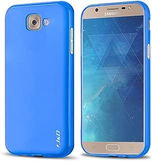 J&D Case Compatible for Galaxy J7 Max Case, [Drop Protection] [Slim Cushion] Shock Resistant Protective TPU Slim Case for Samsung Galaxy J7 Max Bumper Case - Blue