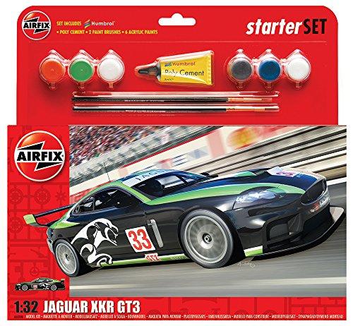 Airfix - Kit Grande con Pinturas, Coche Jaguar XKRGT3 Fantasy Scheme (Hornby A55306)