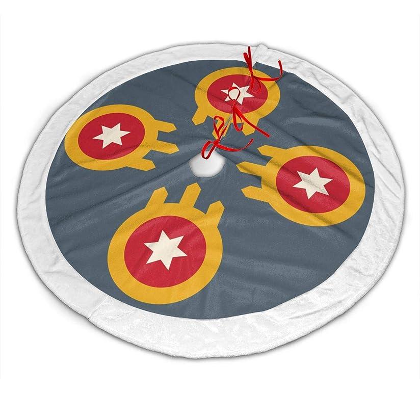 引数演劇女の子タルサの旗 クリスマスツリースカート ツリースカート 下敷物 ツリー 装飾 クリスマスパーティー オーナメント円形