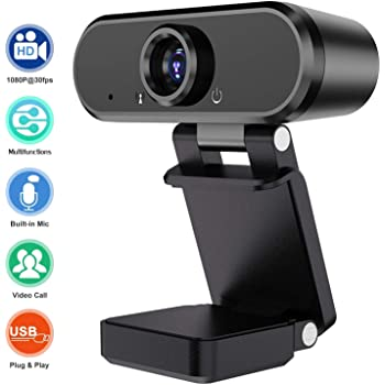 Crosstour 1080P HD Webcam Streaming Computer Web Camera Conference Webcam with Microphone USB Computer Camera for PC Laptop Desktop Video Calling