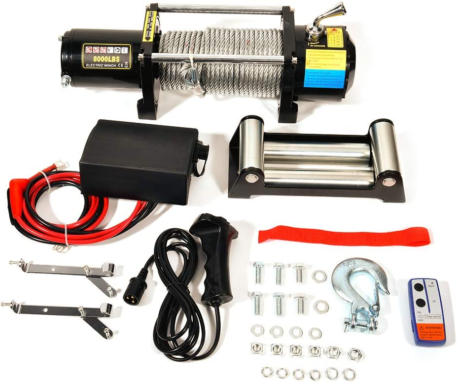 Max 71% OFF INEEDUP Super sale period limited Electric Winch 12V 24V 8000 UTV lbs Winches B Towing ATV