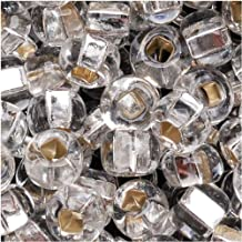 Jablonex Czech Glass Seed Beads Size 6/0 (1 Ounce) (Crystal Silver Lined, 6/0)