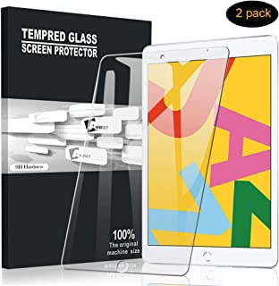 [2-Pack] AVIDET for iPad 10.2 Screen Protector,[Anti-Scratch][Bubble Free] 9H Hardness 0.3mm Ultra Slim Premium Tempered Glass Screen Protector Compatible for iPad 10.2 2019 Tablet