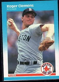 Baseball MLB 1987 Fleer #32 Roger Clemens Red Sox