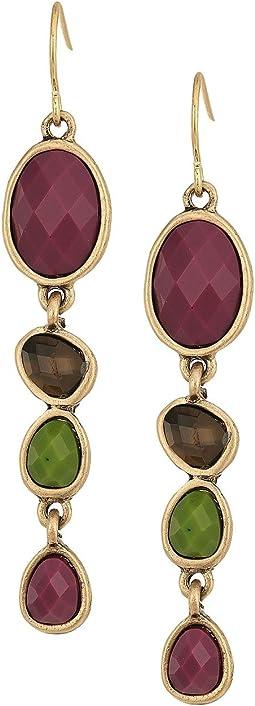 The Sak - Stone Linear Earrings