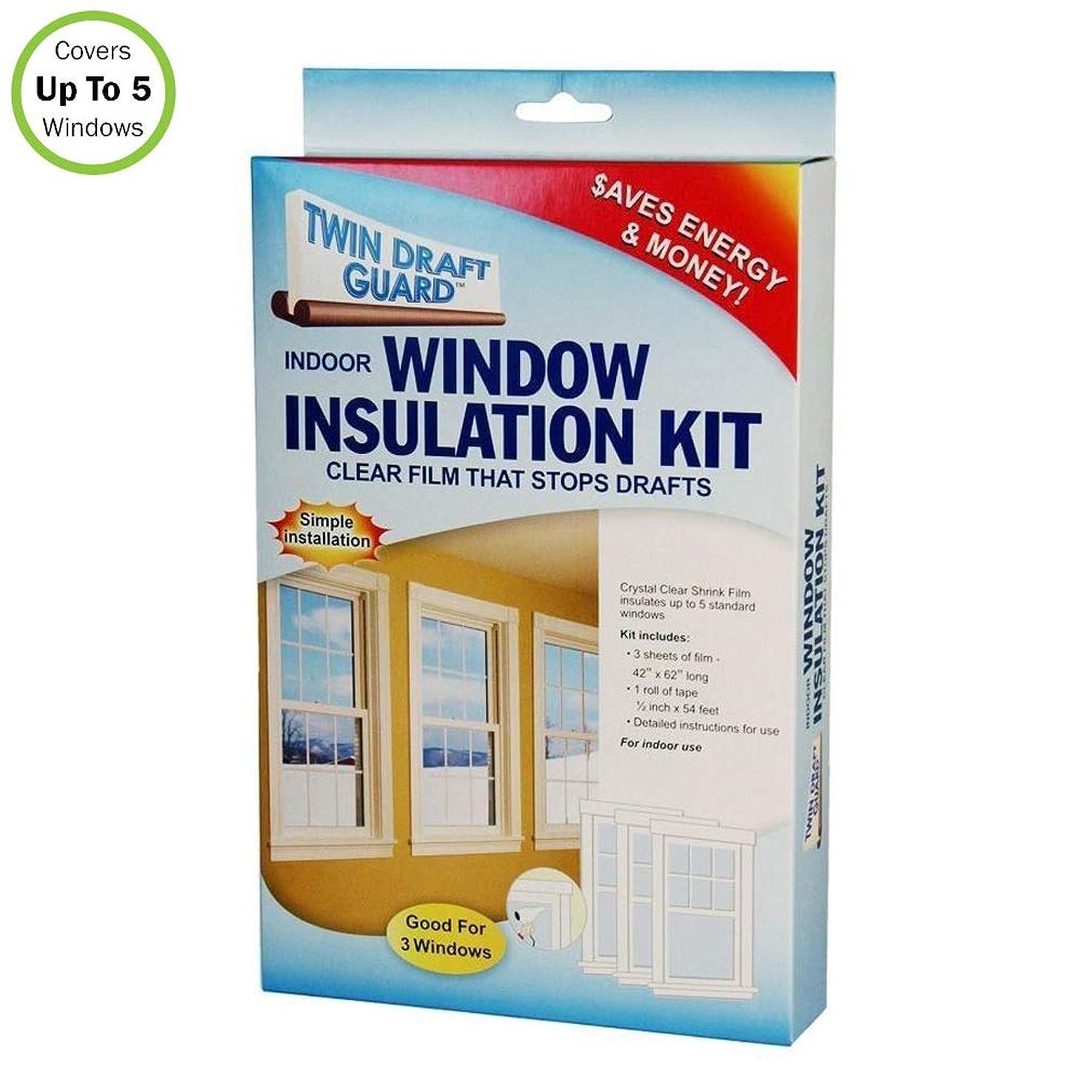 Twin Draft Guard 3 Window Insulation Kit Energy Saver Heat/Cooling Efficiency