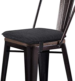 baibu Super Soft Metal Chair Pads Bar Stool Cushion with Ties for Metal Chairs or Bar Stools - Cushion Only (Gray-Black, 13.5x13x1.5in)