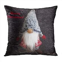 Wesbin Cute Christmas Romantic Hidden Zipper Home Sofa Decorative Throw Pillow Cover Cushion Case Inch 18x18 Square Two Sides Design Printed Pillowcase