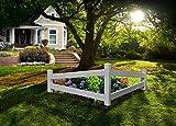 Vita VA20236 Split Rail Corner Picket Fence, White