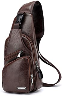 64a0757136 Sacs à bandoulière pour hommes Sac à bandoulière Charge USB Designer Sac  Messenger Sac à bandoulière