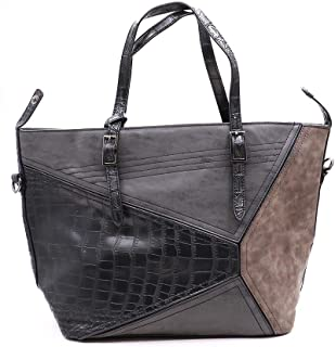 NoBasic Shoulder Bag for Women-Grey/Multi