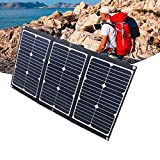 NUB Panel Solar Plegable de 60 W 16 V Cargador Solar portátil con 2 Puertos USB para iPhone, iPad, Huawei, Power Bank, Tableta, Ordenador portátil