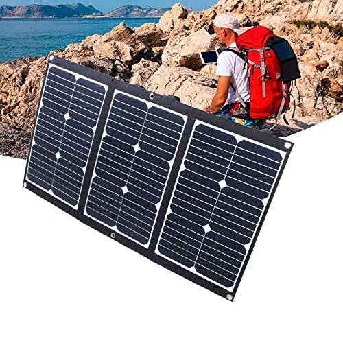 NUB Panel Solar Plegable de 60 W 16 V Cargador Solar portátil con 2 Puertos USB para iPhone, iPad, Huawei, Power Bank, Tableta, Ordenador portátil