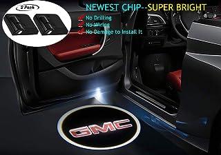2Pcs for GMC Car Door Lights Logo Projector, Car Door Led Projector Lights,Wireless Car Door Welcome Logo Lights for GMC All Models