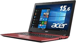 Acer ノートパソコン Aspire 3 A315-32-N14U/RF (Celeron/4GB/256GB SSD/ドライブなし/15.6型/Windows 10/Office H&B/レッド)