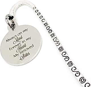 Sister Memorial, Bookmark Gift, Always On My Mind, Forever In My Heart, My Beloved Sister, Remembering My Sister, Missing ...