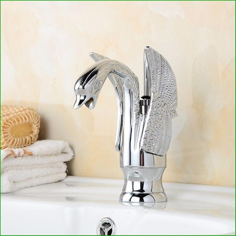 Lalaky Waschtischarmaturen Wasserhahn Waschbecken Spültisch Küchenarmatur Spültischarmatur Spülbecken Mischbatterie Waschtischarmatur Heies Und Kaltes Wasser Des Retro- Kupferüberzug-Silbers