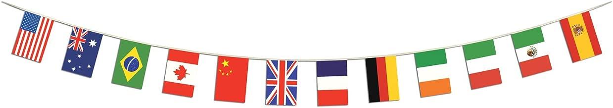 Beistle 57739 International Flag Pennant Banner, 12