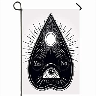 Ahawoso Outdoor Garden Flag 28x40 Inches Engraved Ouija Mythical That Consists Miscellaneous Alchemist Sketches Dot Mystery Esoteric Eye Black Seasonal Home Decor Welcome House Yard Banner Sign Flags