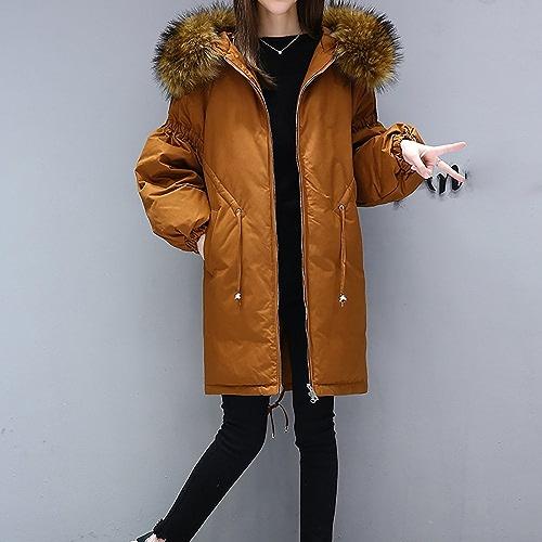 DOUDOUNE QFFL Mme Down Coton vêtements Long Paragraphe dans Le Manteau de Veste en Coton lache 4 Couleurs Disponibles Taille facultative Veste