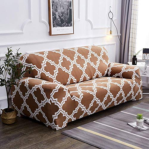 HXTSWGS Sofa Covers 93 Seater,Elastic Sofa Seater Cover, Protector Washable Couch Cover Slipcover Decor-G274675_235-300cm