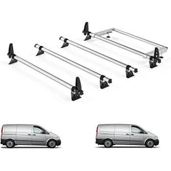 1996 on Van Demon Rhino Delta 4 Bar Roof Bars and Rear Steel Ladder Roller System for Toyota HiAce