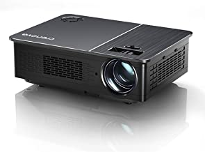 "Native 1080P Projector,Crenova 5800 Lux LED Projector for Outdoor Movie, Video Projector with 200"" Display&50% zoom suppor..."
