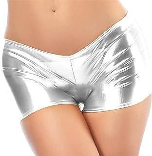 d998d05b39c51 Pandapang Womens Low-Rise Metallic Glitter Stretchy Sexy Short Pants Boxer  Briefs
