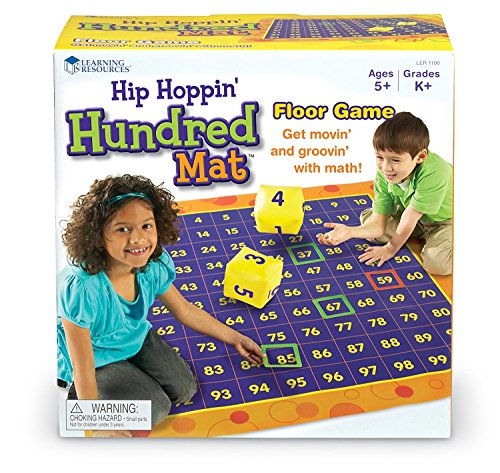 Learning Resources- Hip Hoppin' Hundreds Activity Mat, Color (LER1100)