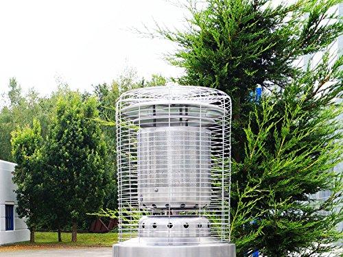 Traedgard® Heizstrahler Kompakt Midi Edel Modell 2018, Höhe ca. 142 cm, mit Rollenset und Schutzhülle, ca. 12 KW Heizleistung, 67426 - 11