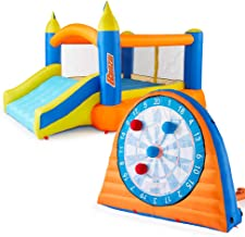 BANZAI Inflatable Stick Darts Sports Set and Slide `N Bounce House Combo Pack