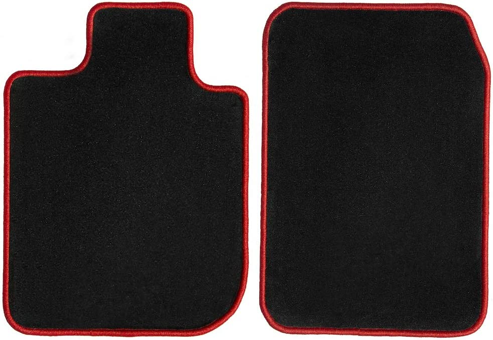 GGBAILEY Discount is also underway 2021 Black with Red Edging Cus Driver Mats Floor Passenger
