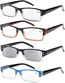comprar comparacion Eyekepper 4-pack Gafas sol de lectura rectangular con bisagras de resorte +2.00