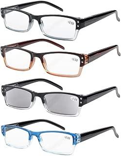 Eyekepper Reading Glasses Includes Sun Readers-4 Pack +1.25