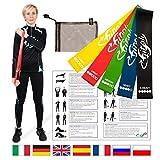 FitFitaly Set Elastici per Fitness e Fisioterapia con PDF x Esercizi in...